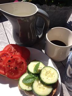 Love eating outdoor on a summer morning. Love Eat, Avocado Egg, Breakfast, Tableware, Summer, Outdoor, Food, Morning Coffee, Outdoors