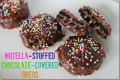 Nutella-Stuffed Chocolate-Covered Oreos