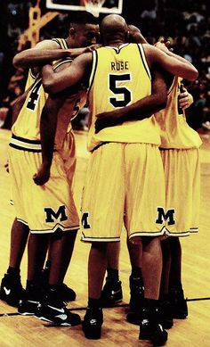 Michigan Basketball Uniforms: Fab Five University Of Michigan Athletics, Michigan Wolverines Basketball, Basketball Legends, Basketball Teams, Basketball Uniforms, College Basketball, Basketball Tickets, Detroit Basketball, Basketball Court