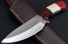 Custom Handmade A2 Steel Hunting Knife Micarta and Camel Bone Handle AE48 ** Discover this special product, click the image : Camping equipment