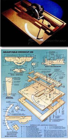 Circular Saw Crosscut Jig - Circular Saw Tips, Jigs and Fixtures   WoodArchivist.com #WoodworkingTools