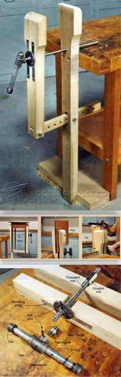DIY Leg Vise - Workshop Solutions Projects, Tips and Tricks | WoodArchivist.com #woodworkingbench