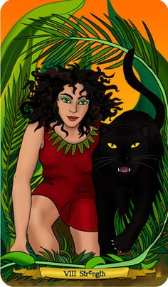 Nine-Lives-Tarot-1 Strength card in this deck. I LOVE it!