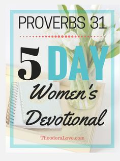 Blessed is the woman who delights in the law of the Lord and who meditates on His word Day and night (Psalm 1: 2). Accompany your bible reading with this 5 day Proverbs 31 women's devotional. It offers bible based insight and encouragement to help you on your journey to know Jesus a little more.