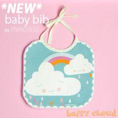 baby bib happy cloud by PinkNounou