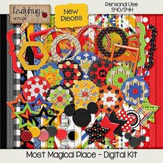 Most Magical Place ADD-ON Digital Scrapboking Kit