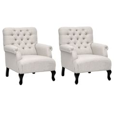 I pinned this Baxton Studio Joussard Club Chair (Set of 2) from the Home Stories A to Z event at Joss and Main!