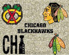 Chicago Blackhawks Hockey Logo Set Cutting File Set in Svg Eps Dxf Jpeg for Cricut and Silhouette