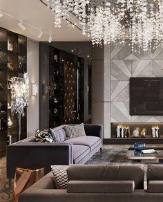 Best interiors of Studia 54 - portfolio Home Building Design, Home Room Design, Dream Home Design, Living Room Designs, Mansion Interior, Luxury Homes Interior, Living Room Modern, Classic Living Room, Modern Exterior House Designs
