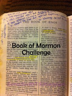 Some Sweet Talking Girl: Book of Mormon Challenge
