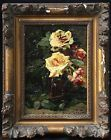ALFRED RUYTINX (1871-1908) SIGNED FRENCH OIL ON PANEL ROSES IN VASE to 13000