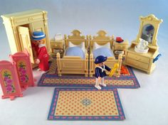 The Master Bedroom of the Victorian Mansion. . .so cute.  Sold for $34.99 + shipping on Ebay.