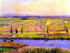 Gustave Caillebotte -La Plaine de Gennevilliers 1888