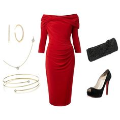 Red & Black, created by rebecca-horn on Polyvore