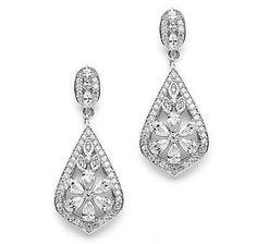 """Boucles d'oreilles de mariage vintage """"Anastasia"""""""