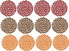 "Mum Flower Pack of 12 Wall Decal Sticky Art by landbgraphics, $24.99   each mum is 5"" x 5"""