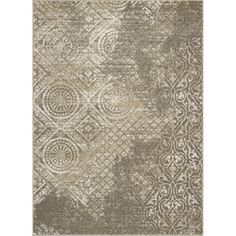 Manhattan Rectangular Cream Transitional Woven Area Rug (Common: 8-ft x 11-ft; Actual: 94-in x 126-in)