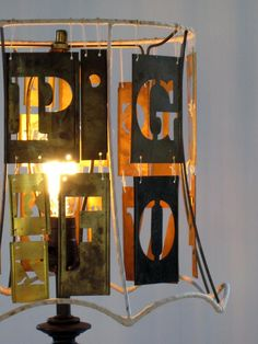 Brass Stencil Lampsh