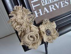 Burlap Flowers | Craft Ideas