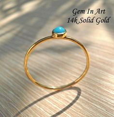 14K Gold Turquoise RingSolid Gold Dainty Ring14K Solid Gold Solid Gold, Art Designs, Gemstone Rings, Unique Jewelry, Handmade Gifts, Turquoise, Amazing, Etsy, Art Projects