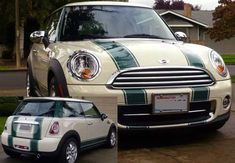 Bonnet & Boot Stripes fit any Mini Cooper Countryman Clubman - Click Image to Close Country Man, Cooper Countryman, Racing Stripes, S Car, Mini Me, Motorcycle Accessories, Green Stripes, Hot Cars, Clubman