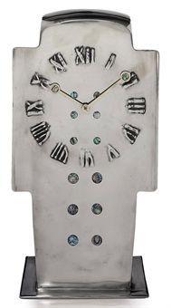 ARCHIBALD KNOX / Tudric Timepiece / c. 1902