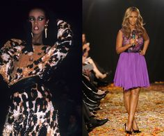 """At the Michael Vollbracht show in 1981, and announcing the """"Strut: The Fashionable Mom"""" presentation in 2012. The Somalian-born icon hasn't been seen catwalking since she retired from modeling in 1989—unless it's for special events like this mother-geared runway show she organized in 2012.   - HarpersBAZAAR.com"""