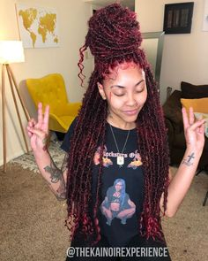 Faux Locs Hairstyles, Braided Hairstyles For Black Women, Baddie Hairstyles, African Braids Hairstyles, Curly Braided Hairstyles, Braids With Curls, Braids For Black Hair, Curly Hair Styles, Natural Hair Styles
