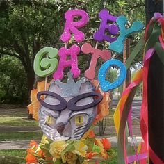 "Fiesta San Antonio ""Rey Gato"" hat made by John Valdivia for Anna-Laura Howell Block"