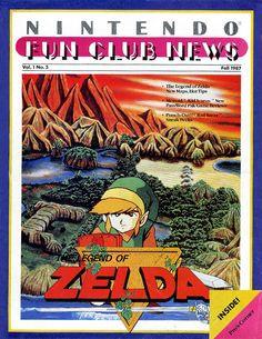 Nintendo Fun Club News, free predecessor of Nintendo Power magazine - Zelda #NES issue.