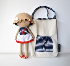 My Teeny-Tiny Doll™ Willow and Carry-Me Messenger Bag