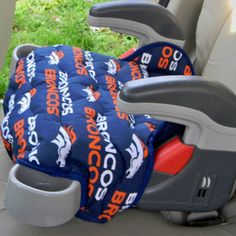 Car Accessory, Booster Seat Replacement, for the younger Bronco fan. Available in other sports fabrics