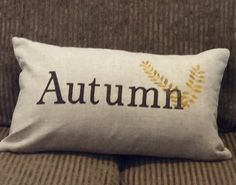 """Our pillow covers are finely textured and supremely soft. This coveris hand painted and fully customizable. 12""""x 20""""rectangle Made of pure linen and natural"""