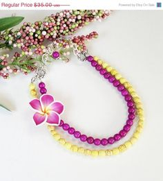 Christmas In July CIJ Bright Yellow Purple Turquoise by BijiBijoux, $31.50