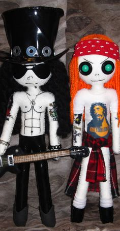 Axl & Slash - Handmade doll by DollArmsBigVeins
