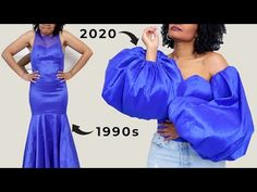 Ugly 90's Prom Dress to Black Is King Inspired Corset Top with Balloon Sleeves! - YouTube