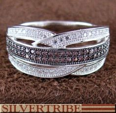 Southwest Jewelry | Cubic Zirconia Ring | Sterling Silver Jewelry | Ring Size 8