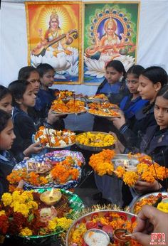 Festivals of India - Basant Panchami. This celebrates the advent of spring.