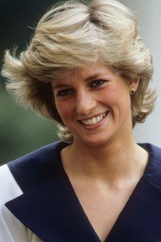 Princess Diana having a bit of a bad hair day.