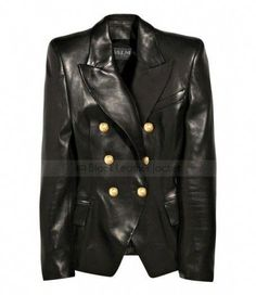 954dbf62 Buy Online Kim Kardashian Black Leather Jacket at Discounted Price Womens  Double Breasted Jacket Blazer for sale.