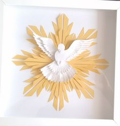 Find White Flying Dove Abstract Illustration stock images in HD and millions of other royalty-free stock photos, illustrations and vectors in the Shutterstock collection. Paper Crafts Origami, Diy Paper, Paper Art, Paper Birds, Paper Flowers, Holly Spirit, Baptism Party, Arts And Crafts, Diy Crafts