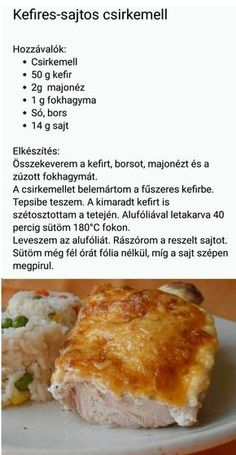 Pin by Nails Lindi on Recept in 2019 Gourmet Recipes, Real Food Recipes, Cooking Recipes, Yummy Food, Healthy Recipes, Eastern European Recipes, Pinterest Recipes, Pinterest Food, Hungarian Recipes