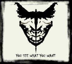 The Batman / Joker Ink Blot Test