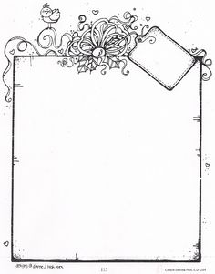 Bordes DJ Inkers_Carson y negro - Laura Zamora - Picasa Web… Borders For Paper, Borders And Frames, Coloring Books, Coloring Pages, Dj Inkers, Quiet Book Templates, Letters For Kids, Page Borders, Quilling Paper Craft