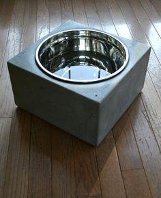 Concrete Dog Bowl Extra Extra Large Concrete от ConcreteDesignsVA