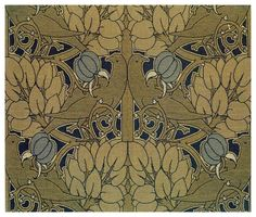 Textile design by C F A Voysey, produced by Alexander Morton & Co in 1898.