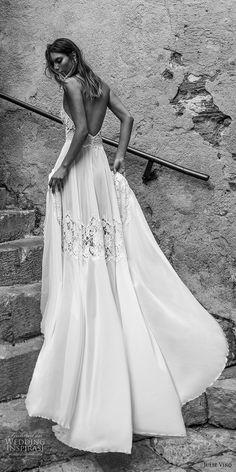 julie vino 2018 bridal sleeveless illusion halter sweetheart neck heavily embellished bodice roamtic soft a line wedding dress open back chapel train (53) bv -- Romanzo by Julie Vino 2018 Wedding Dresses