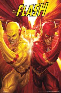 The Flash Vs. The Reverse Flash (Cover art by Stanley Lau) Marvel Dc Comics, Heros Comics, Dc Comics Art, Dc Heroes, Flash Comics, Comic Book Characters, Comic Book Heroes, Comic Character, Comic Books Art