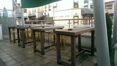 Outdoor seating area at The Cribbar, Newquay