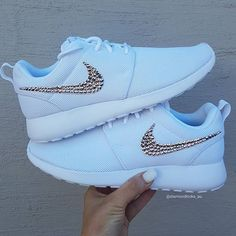 Nike Roshe One with Rose Gold Crystals ❤️